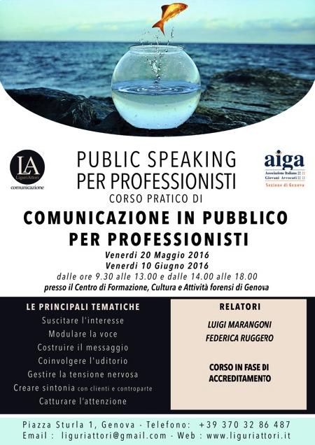 Corso Public Speaking per professionisti