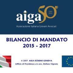 Bilancio di mandato AIGA Genova 2015-2017