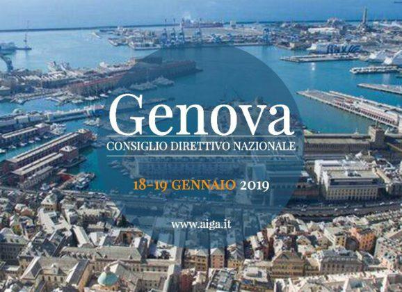 SAVE THE DATE: Consiglio Direttivo Nazionale AIGA a Genova (18-19 gennaio 2019)