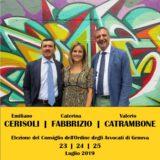 Elezioni Consiglio dell'Ordine degli Avvocati di Genova 23-25 luglio 2019