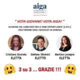 Elezioni Comitato Pari Opportunità: eletti tutti e 3 candidati AIGA Genova