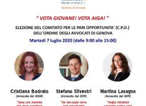 Elezioni Comitato Pari Opportunità (7 luglio 2020)